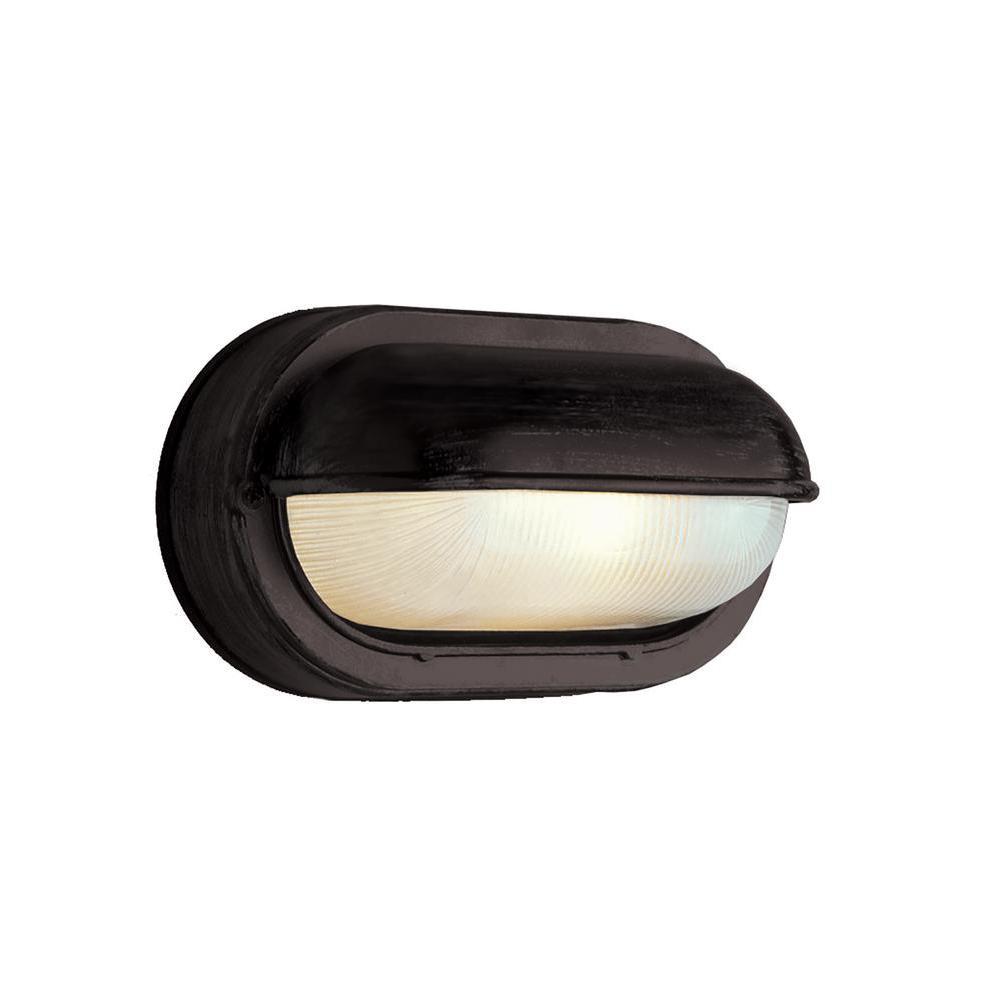 Mesa II Black 1-Light Outdoor Bulkhead