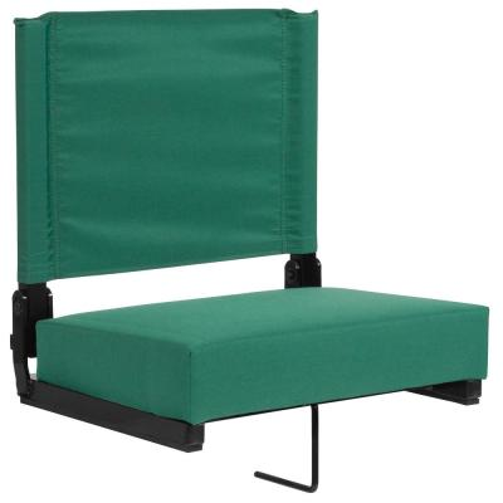 Hunter Green Metal Folding Lawn Chair
