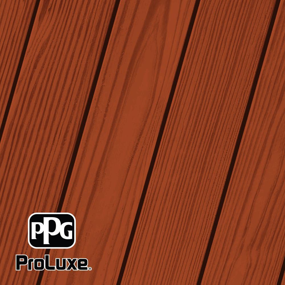 PPG ProLuxe 1 gal. #HDG-ST-219 Honey Brown SRD Exterior Semi-Transparent Matte Wood Finish