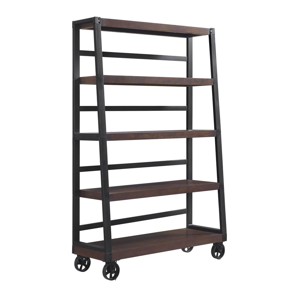 Ameriwood Fenwick Mahogany Mobile Ladder Bookcase