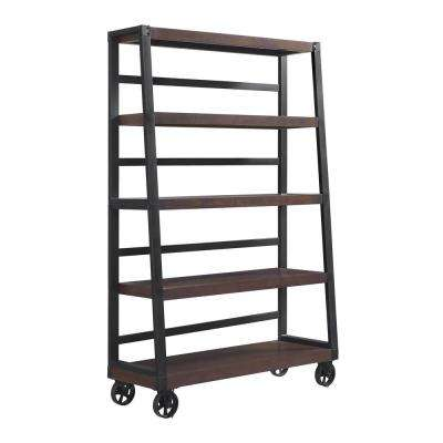 Fenwick Mahogany Mobile Ladder Bookcase