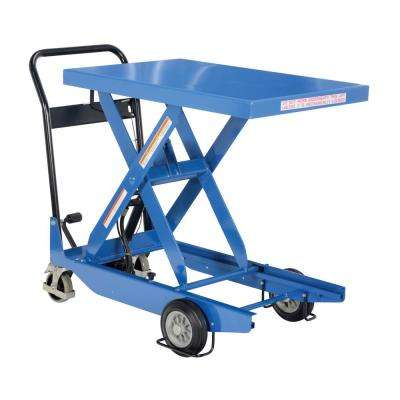 300 lb. Capacity 23 in. x 34 in. Premium Single Scissor Cart