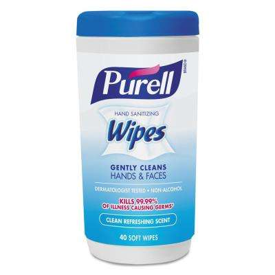 5-7/10 in. x 7-1/2 in. Clean Refreshing Scent Hand Sanitizing Wipes (40/Canister, 6/Carton)
