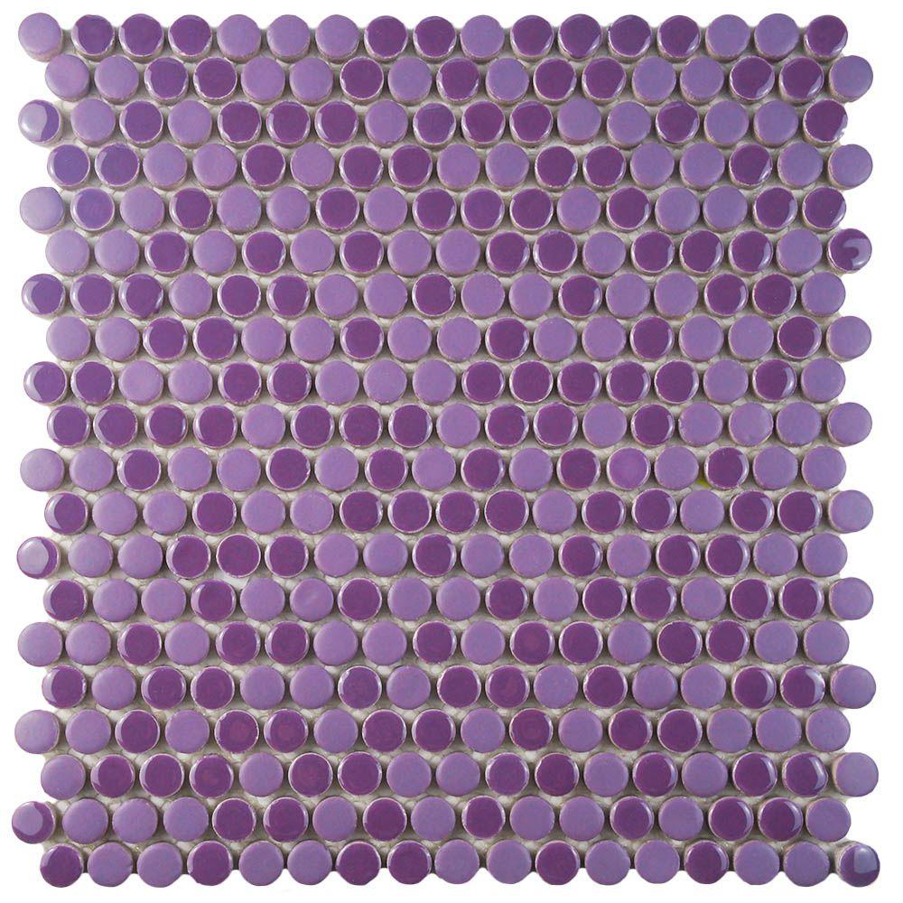 Comet Penny Round Purple 11 1 4 In X 3