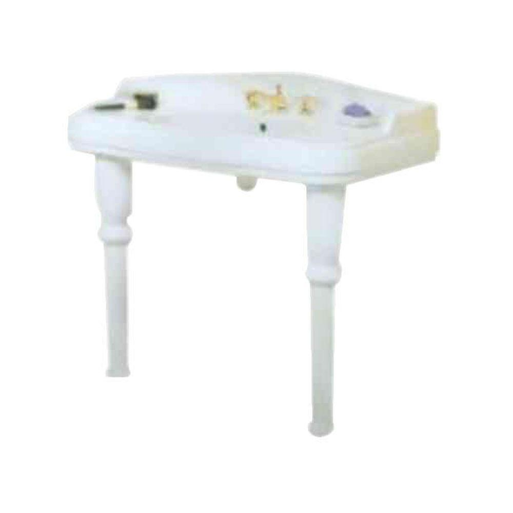 St. Thomas Creations Old Antea Petite Console With Straight Legs- White