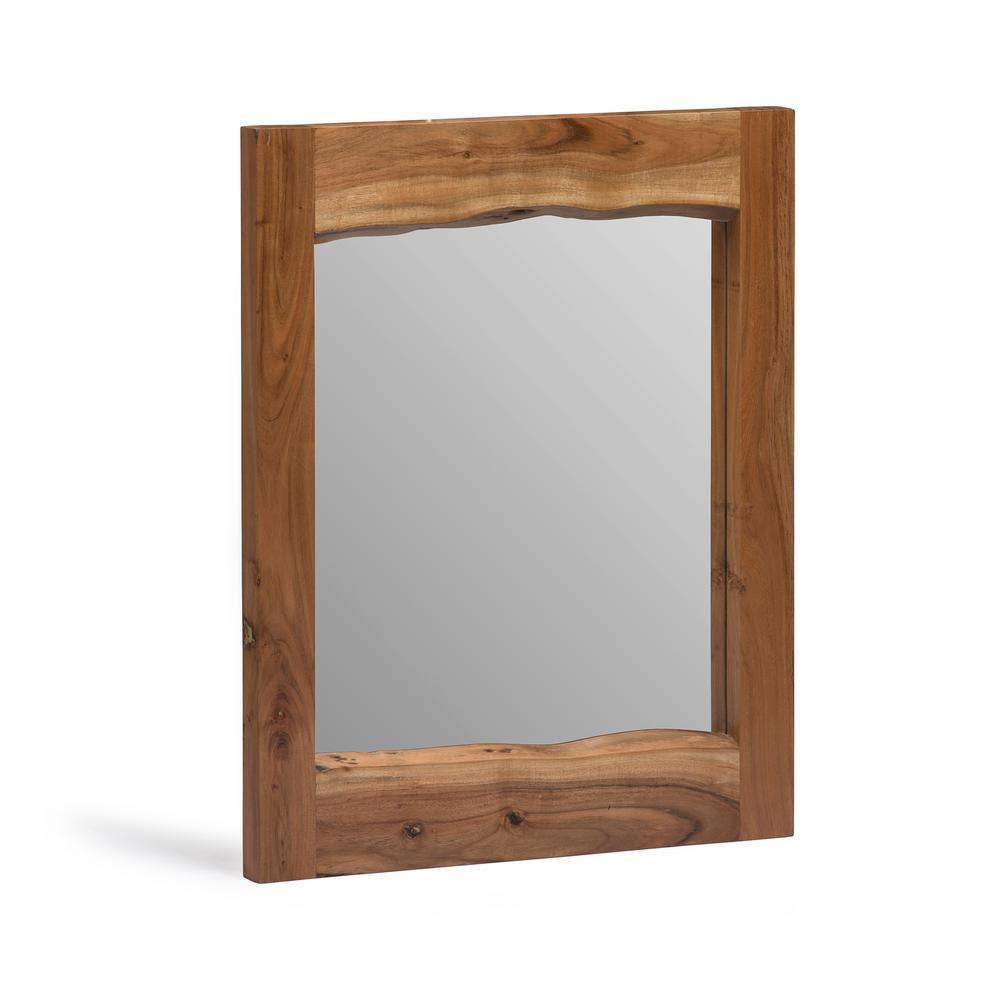 natural wood mirror round alaterre furniture alpine live edge 24 in natural wood mirror