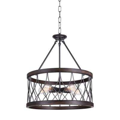 Amazon 5-Light Gun Metal Chandelier