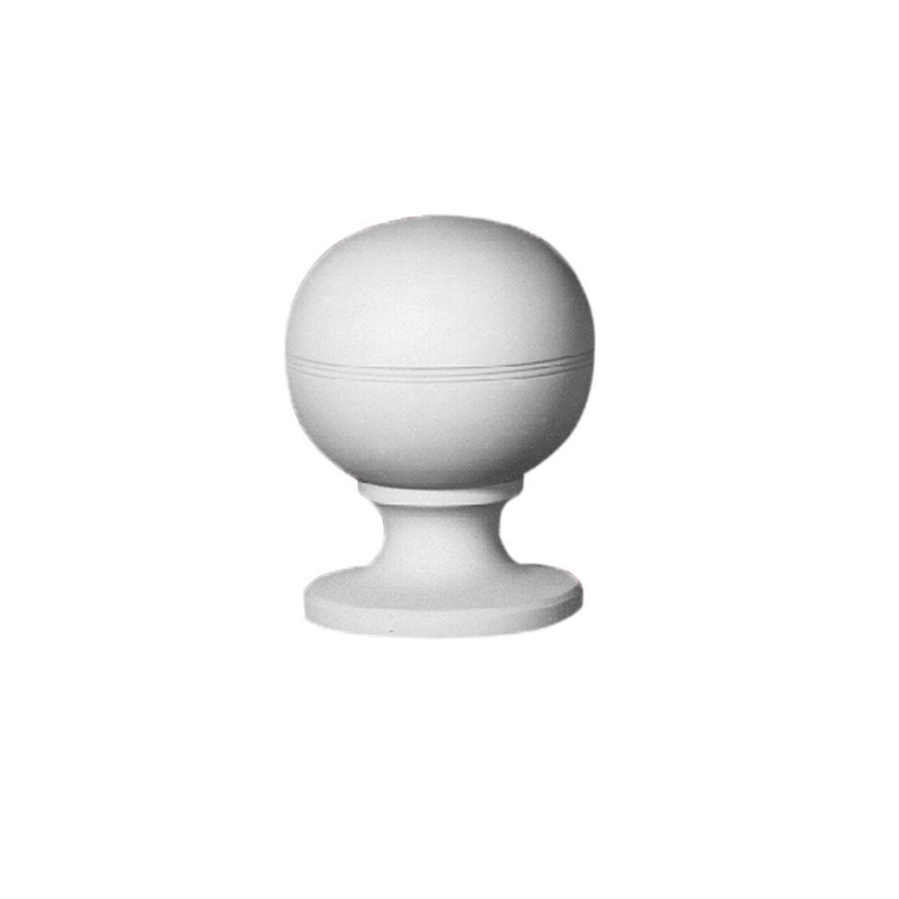 Fypon 8-1/2 in. x 6-1/2 in. x 6-3/16 in. Polyurethane Decorative Post Ball Top Finial