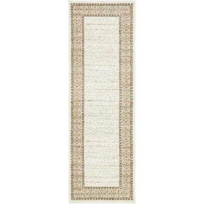 Indoor/Outdoor Atlanta Ivory 2' 0 x 6' 0 Runner Rug