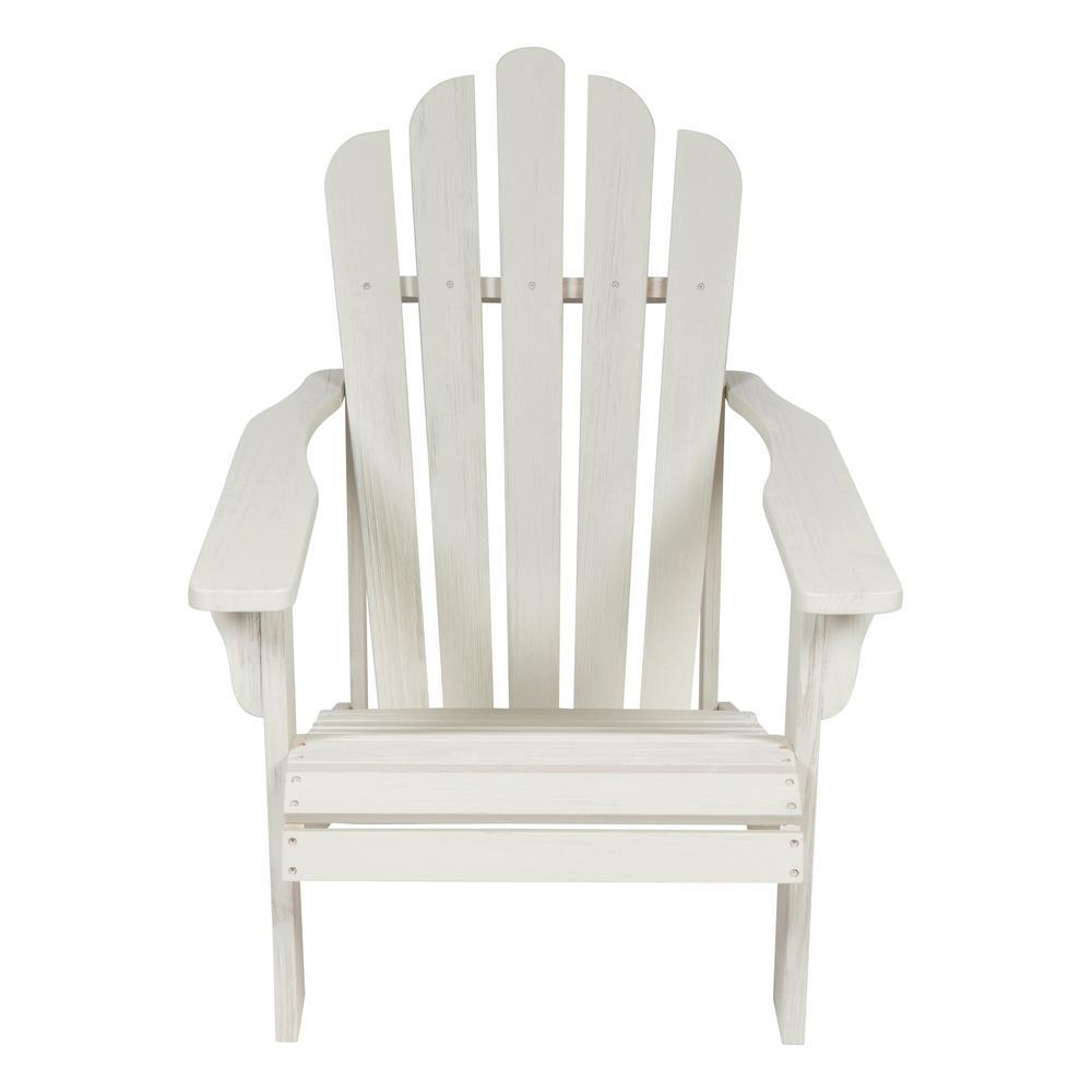 Westport II 36 in. Tall Eggshell White Cedar Wood HYDRO-TEX Finish Adirondack Chair