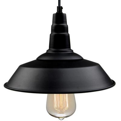 Versatile 10 1/5 in. W 1-Light Black Indoor Ceiling Barn LED Compatible Pendant Light