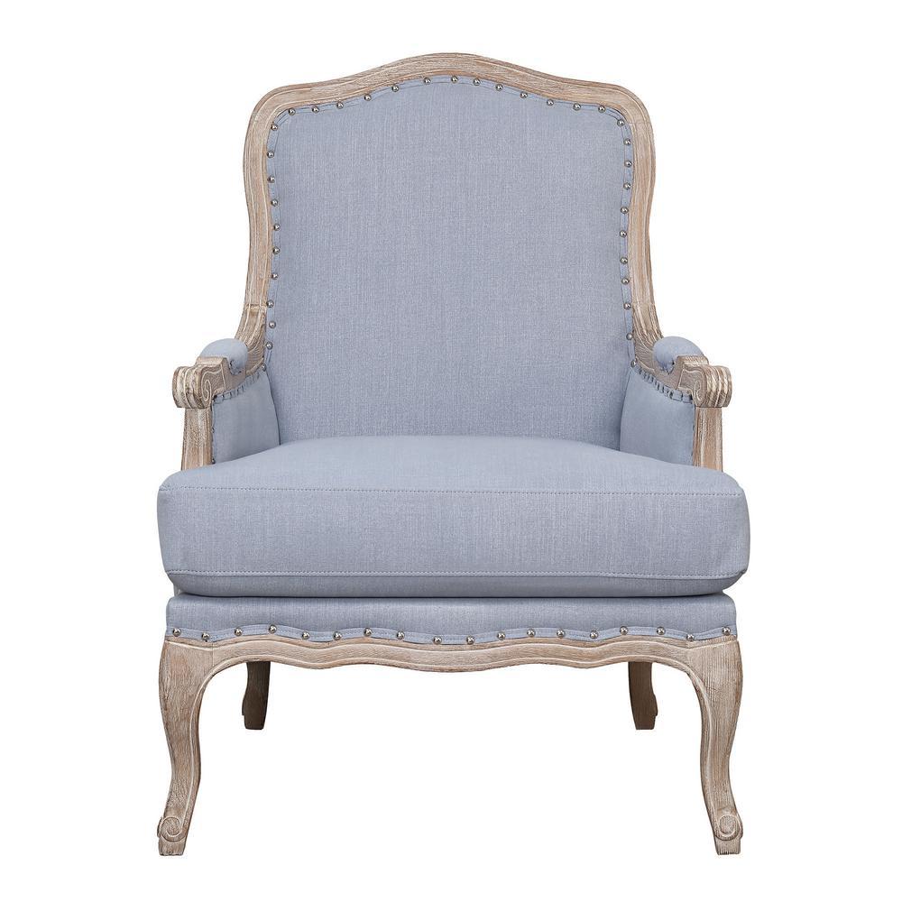 Genial Regal Light Blue Accent Chair