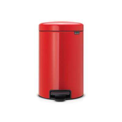 3.2 Gal. (12 l) Passion Red Steel Step-On Trash Can