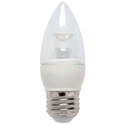 25W Equivalent Bright White Torpedo B10 Dimmable LED Light Bulb