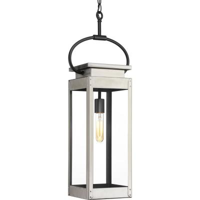 Union Square Collection 1-Light Outdoor Stainless Steel Hanging Lantern