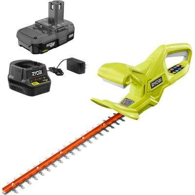 ONE+ Lithium+ 18 in. 18-Volt Lithium-Ion Cordless Hedge Trimmer - 1.5 Ah Battery and Charger Included