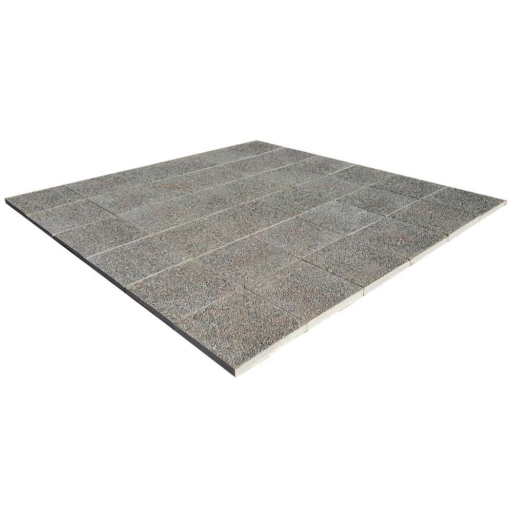 Classic Stone Patio On A Pallet 96 In. X 96 In. Square Exposed Aggregate  Concrete Step Stone (36 Pieces Per Pallet) PP ESG16SQUARE   The Home Depot