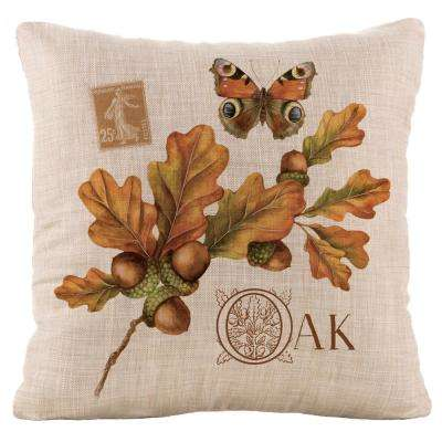Harvest Oak Natural Harvest Decorative Pillow