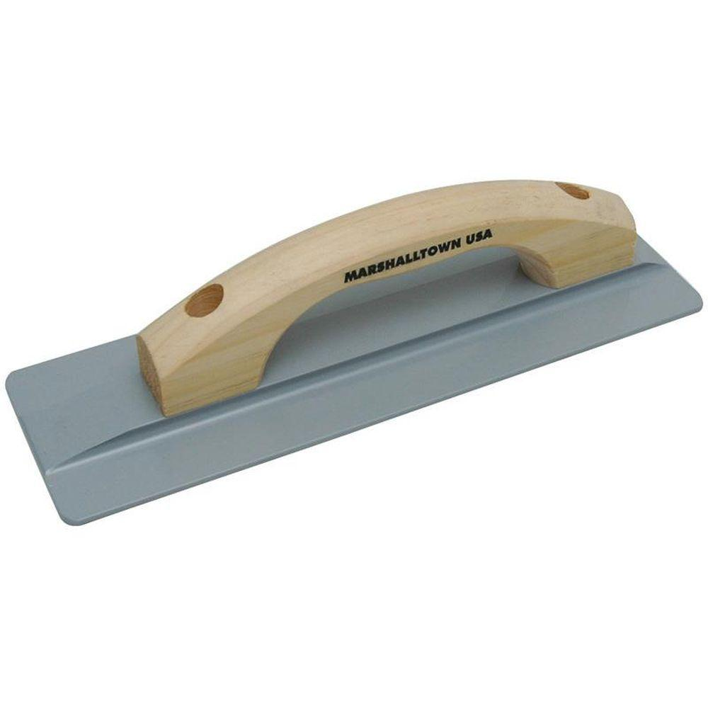 12 in. x 3-1/8 in. Magnesium Hand Float - Hardwood Handle