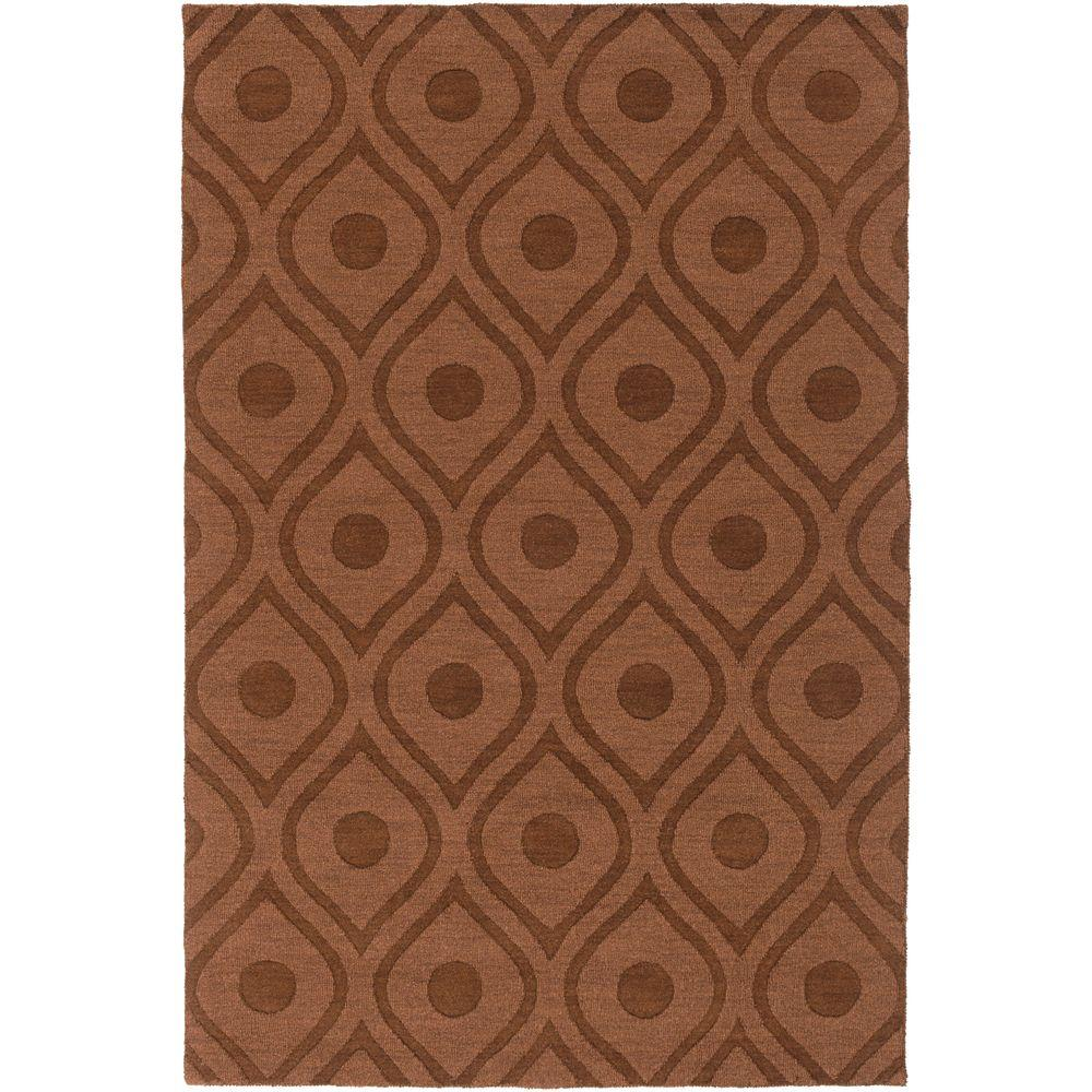 Central Park Zara Chocolate 3 ft. x 5 ft. Indoor Area