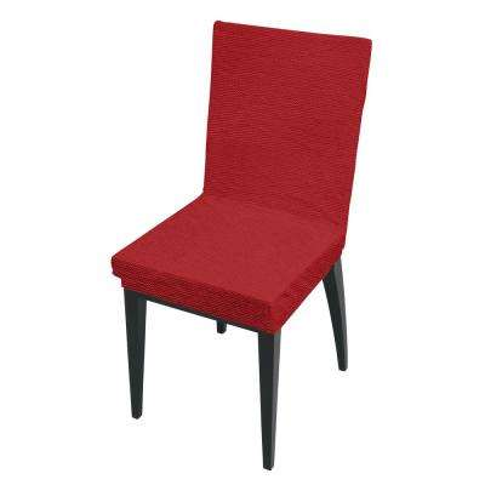 41.7 in. x 15.8 in. Zig Zag Burgundy Stretch Dining Chair Slip Cover