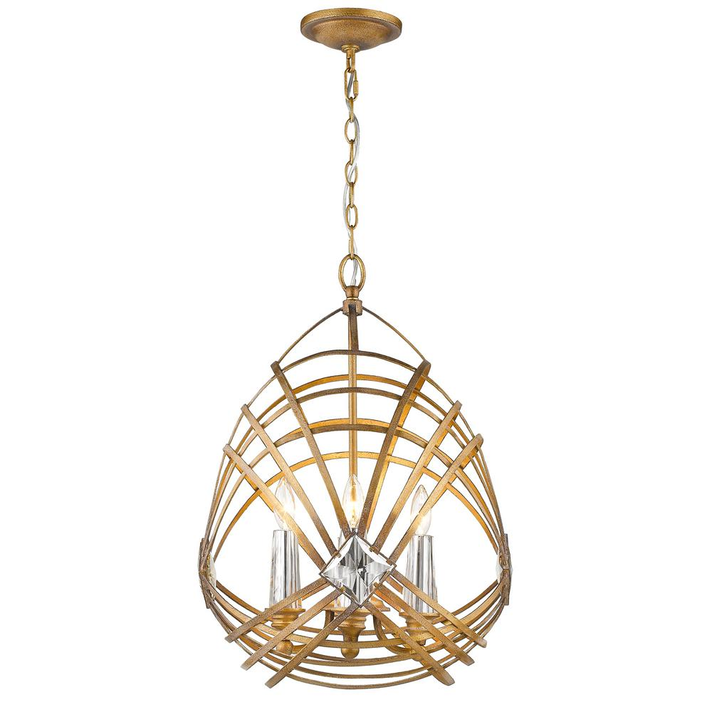 Signet 4-Light Royal Gold Pendant Light