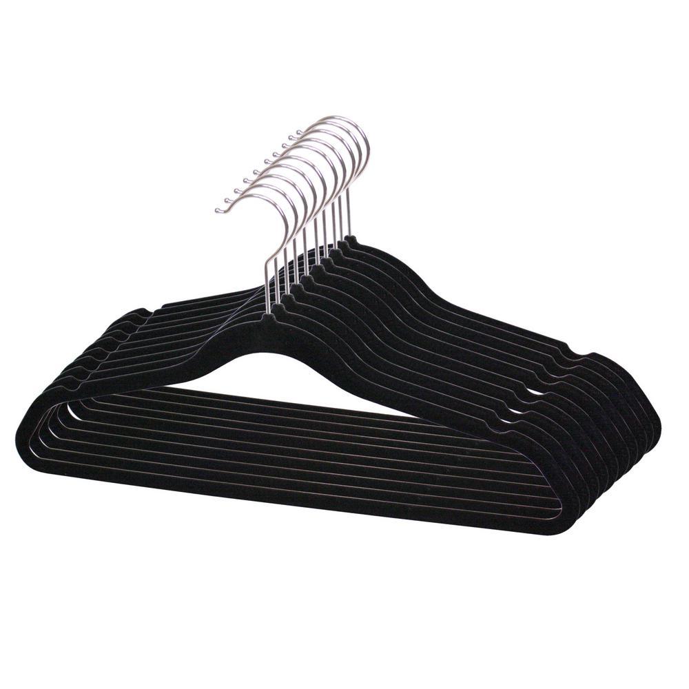 Black Velvet Hanger (10-Pack)