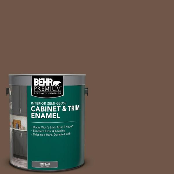 Reviews For Behr Premium 1 Gal Ppu5 18 Chocolate Swirl Semi Gloss Enamel Interior Cabinet And Trim Paint 712301 The Home Depot