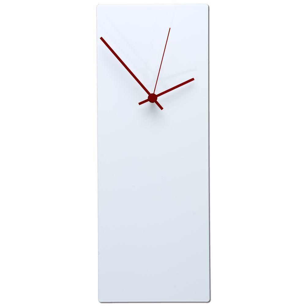 Brevium 16 in. x 6 in. Modern Wall Clock