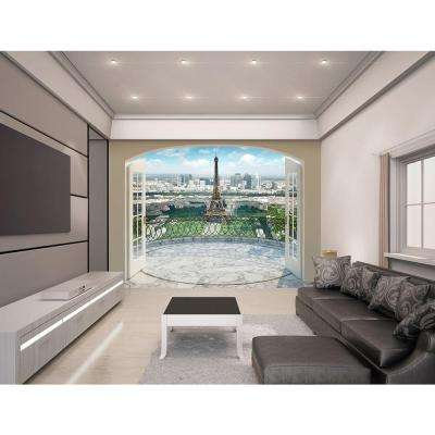 120 in. H x 96 in. W Eiffel Tower in Paris Wall Mural
