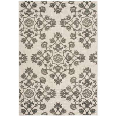 Cottage Indoor/Outdoor Cream/Gray 5 ft. x 8 ft. Area Rug