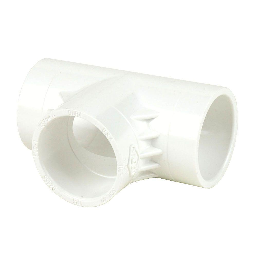 DURA 10 in. Schedule 40 PVC Tee SxSxS