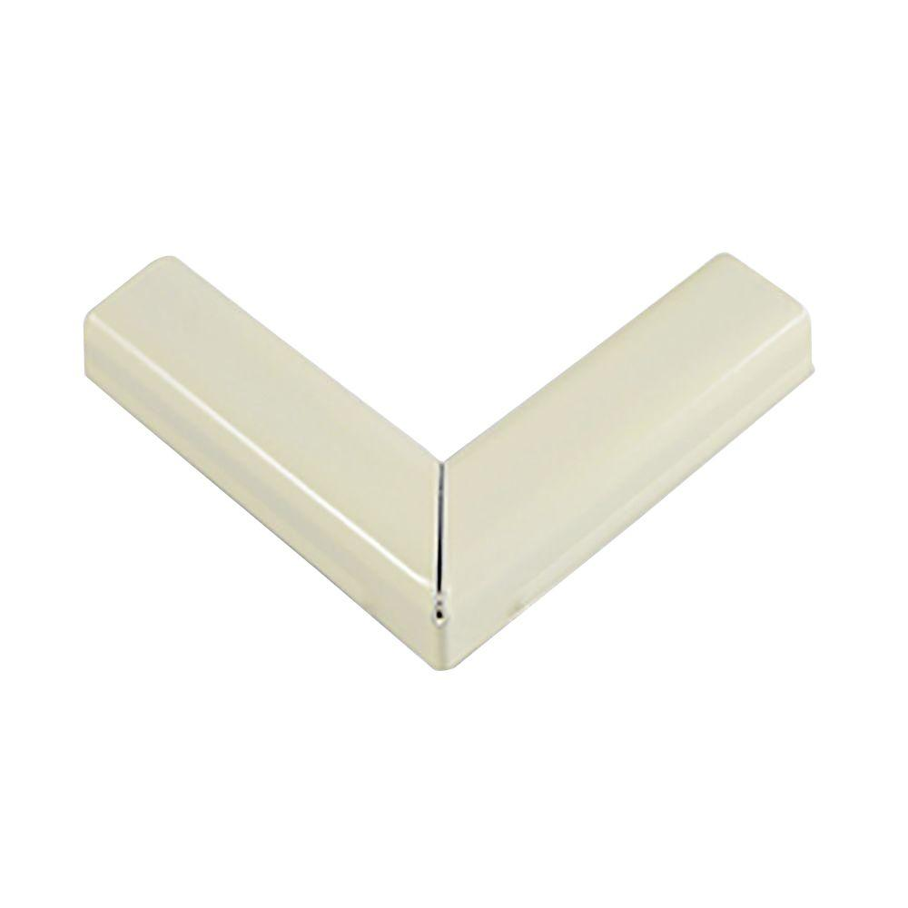 90 Degree Steel Flat Elbow - Ivory