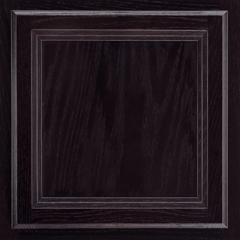 American Woodmark 13x12-7/8 in. Cabinet Door Sample in Ashland Oak Espresso-DISCONTINUED