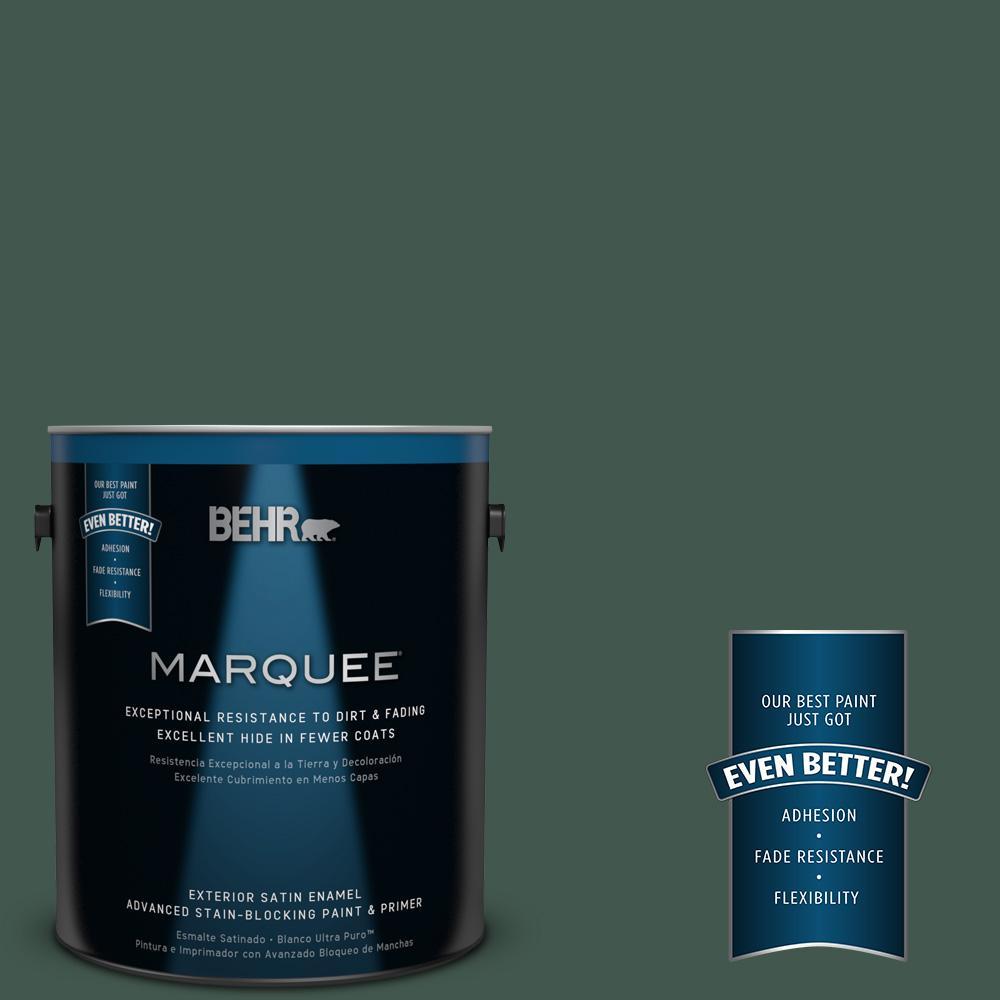 BEHR MARQUEE 1-gal. #BXC-33 Jolly Green Satin Enamel Exterior Paint