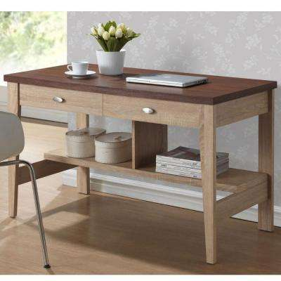 Fillmore Natural and Dark Brown Desk