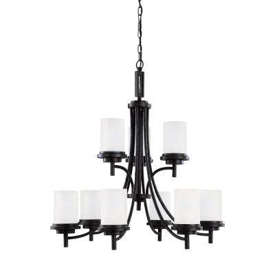 Winnetka 9-Light Blacksmith Chandelier with LED Bulbs