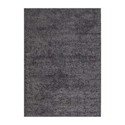 Shaggy Charcoal Gray 7 ft. x 9 ft. Area Rug