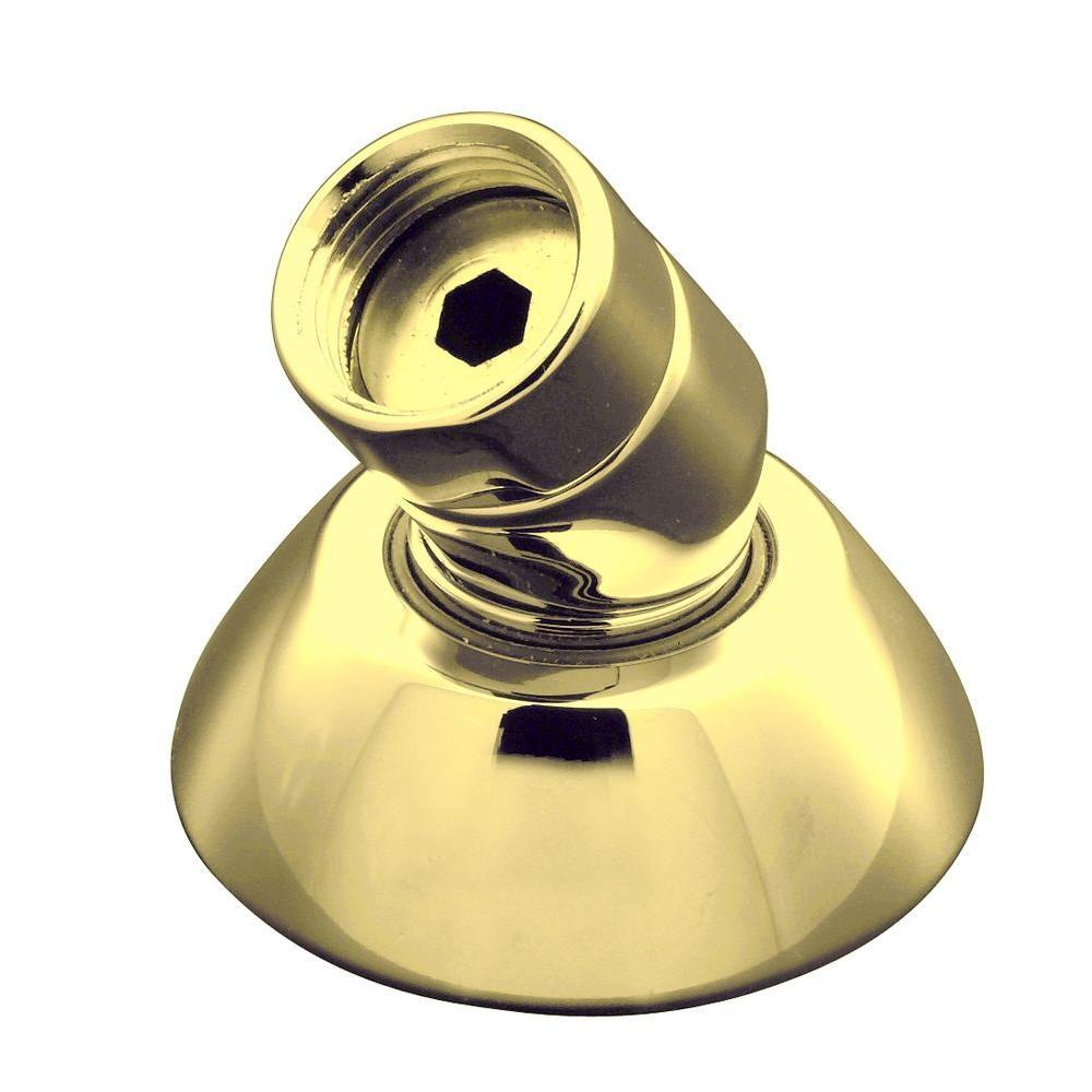 3-Way Handshower Hose Guide in Vibrant Polished Brass