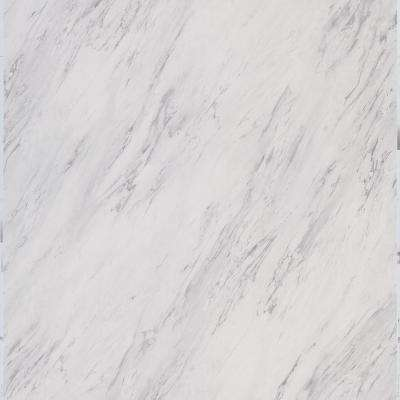 Take Home Sample - Carrara Marble Peel and Stick Vinyl Tile - 5 in. x 7 in.