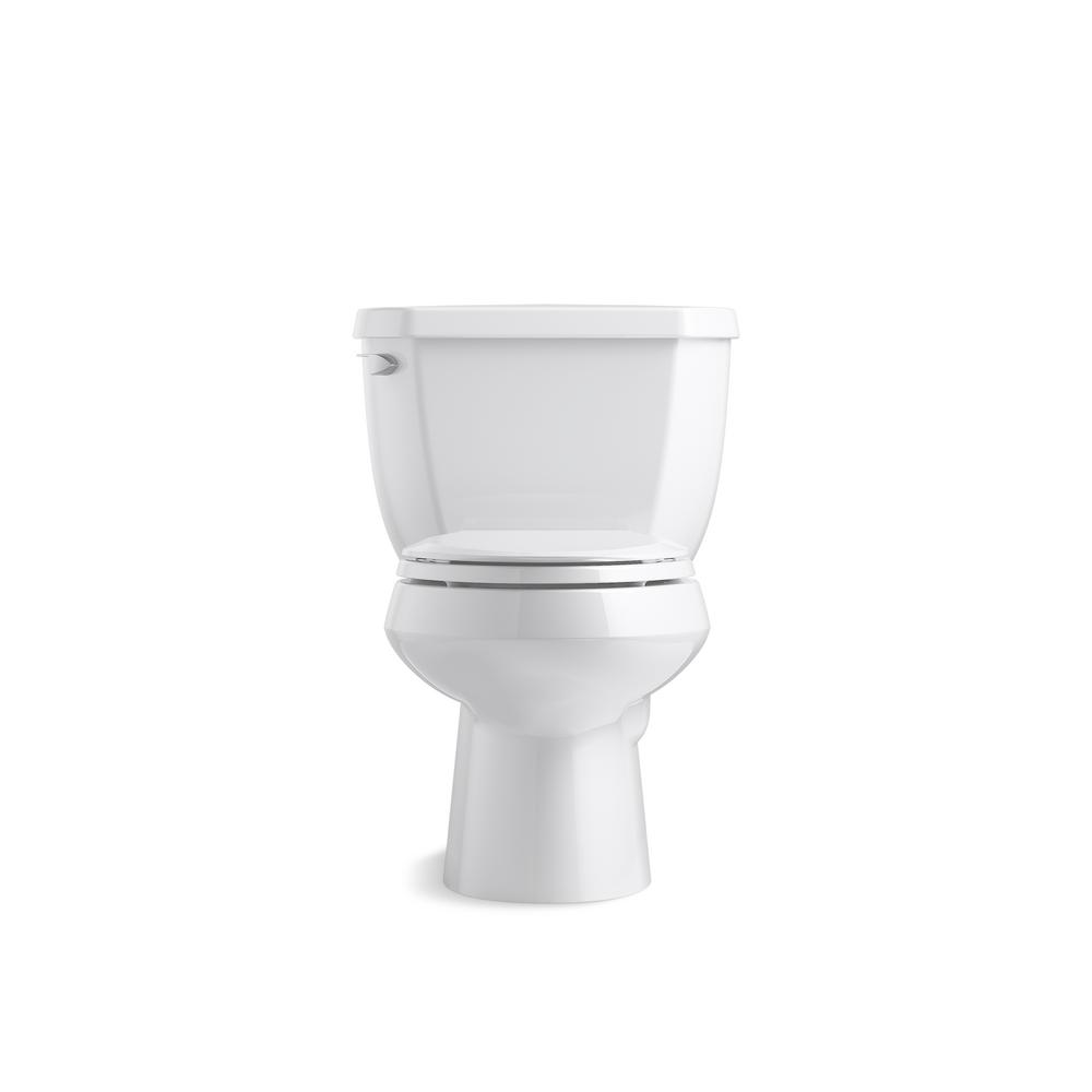 Kohler Wellworth Classic 2 Piece 1 28 Gpf Single Flush Elongated Toilet In White K 3575 0 The Home Depot