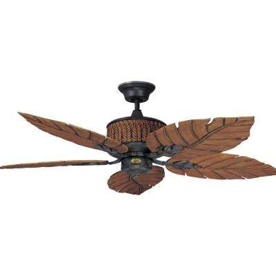 Ferneze 52 in. Rustic Iron Ceiling Fan with 5 Blades
