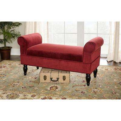 Lillian Dark Mahogany Bench