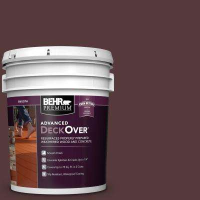 5 gal. #SC-106 Bordeaux Smooth Solid Color Exterior Wood and Concrete Coating