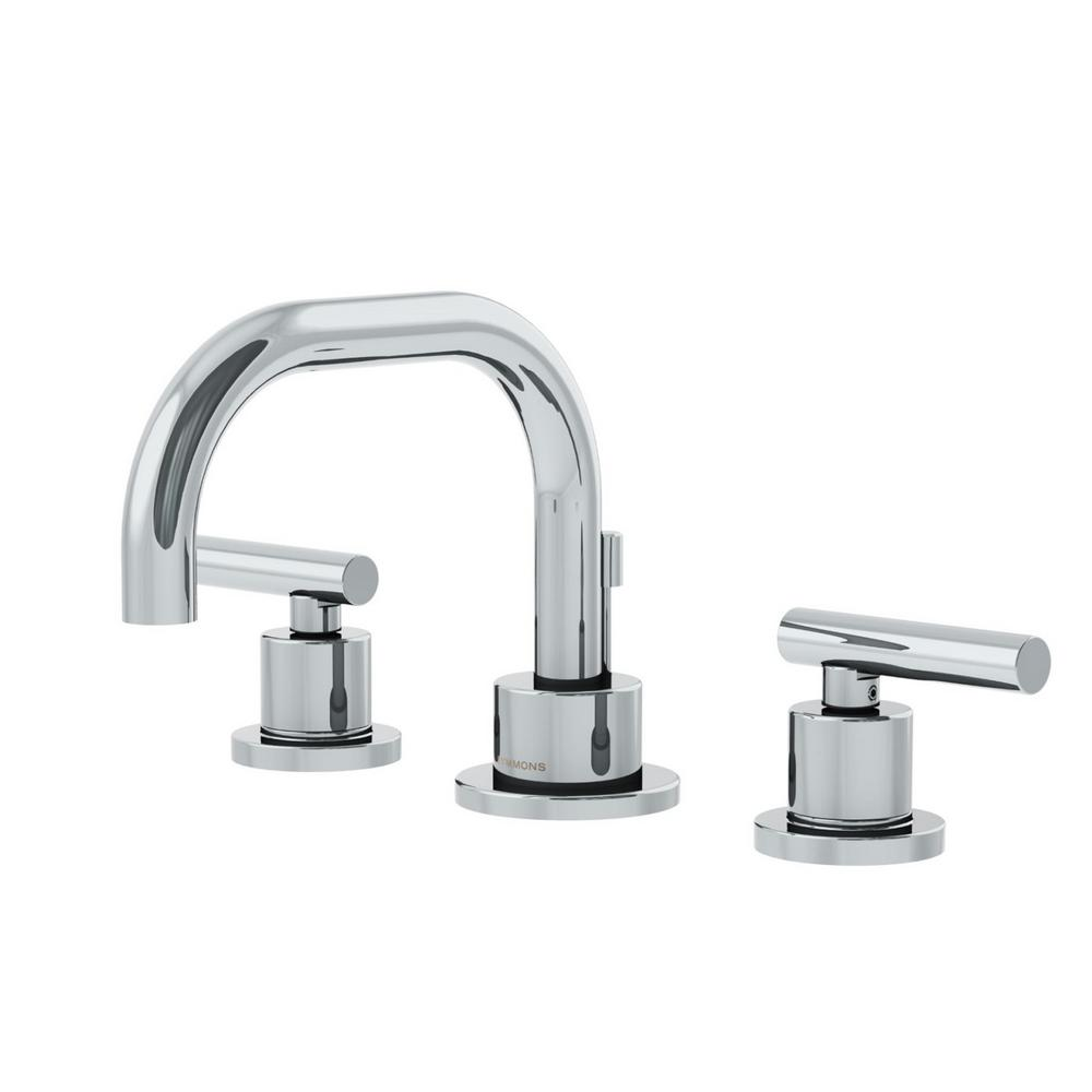 Symmons Dia 8 In. Widespread 2-Handle Low-Arc Bathroom Faucet In Chrome-SLW-3522-1.0