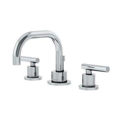 Dia 8 in. Widespread 2-Handle Low-Arc Bathroom Faucet in Chrome