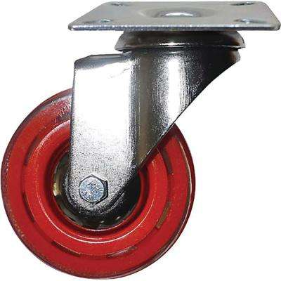 3 in. Rhubarb Red Swivel Caster with 132 lbs. Load Capacity (4-Pack)