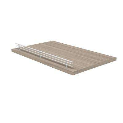 22.5 in. W x 14 in. D Slide-Out Shelf with Epoxy Coated Drawer Glides and Fence in Textured Platinum