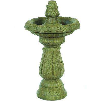 Aged Pine Acanthus Fountain with Pump