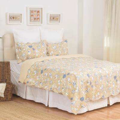 Brown Sand Treasures King Quilt Set